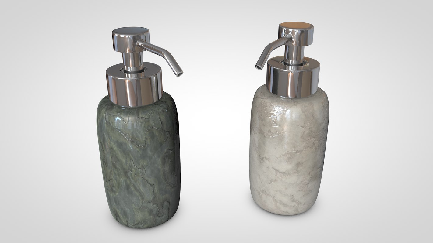 rock soap dispenser 3d c4d