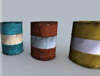 free barrel 3d model