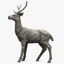 deer statue 3D models