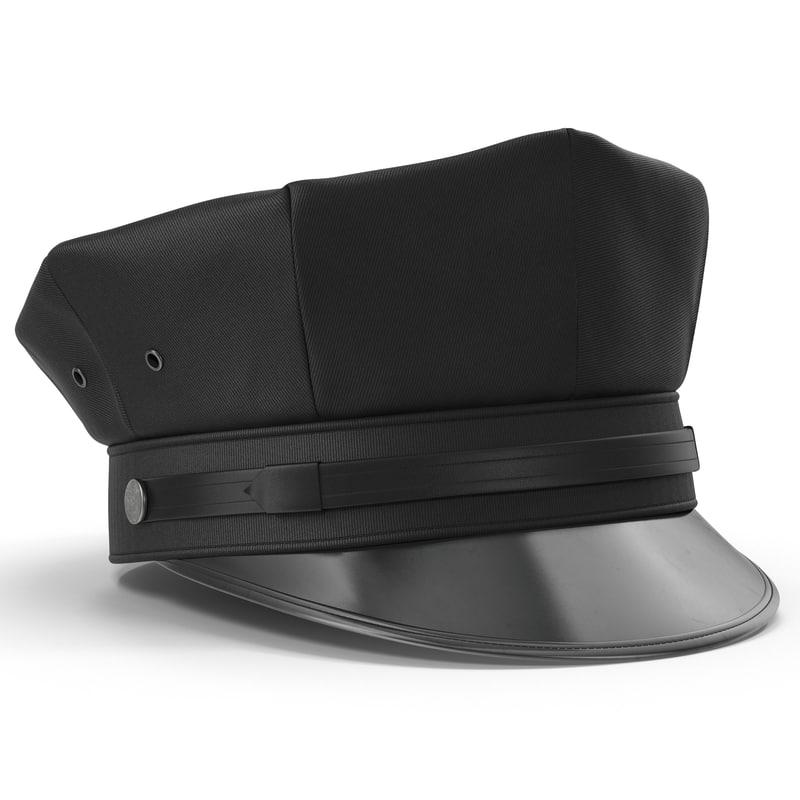 3d police hat 2 model