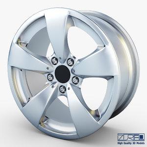 3d model style 138 wheel silver