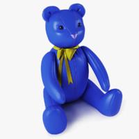 bear blue 3d x
