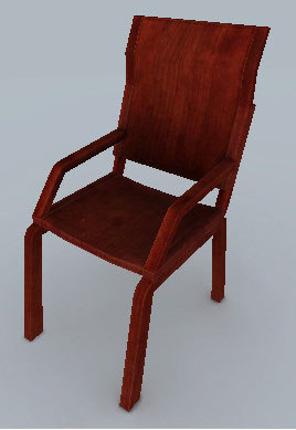 wooden chair fbx free