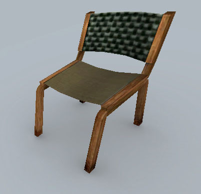 free x model wooden cloth chair