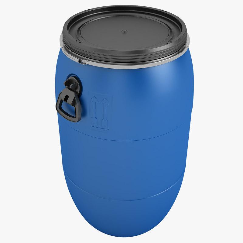 barrel plastic 3d model