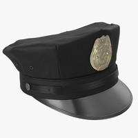 city police hat 3d max
