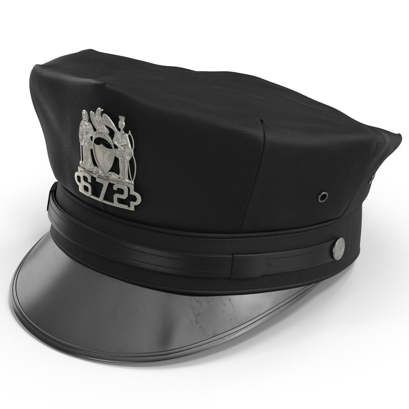3d new york police hat model
