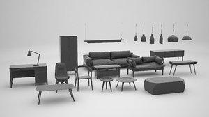 3d furniture interior model