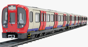 3d model s8 stock london subway train