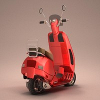 scooter bike 3d max