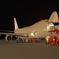 Freighter Aircraft in Loading Operation
