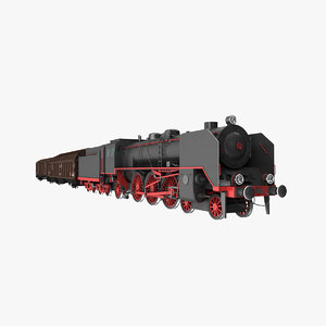 3d model steam locomotive