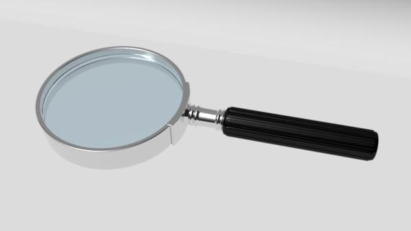 magnifying glass obj