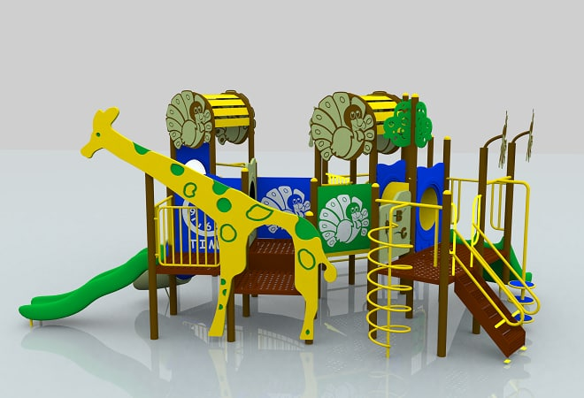 jungle playground 3d model