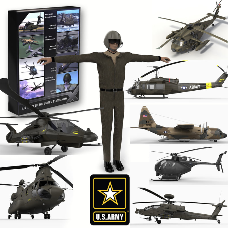 united states army 3d model