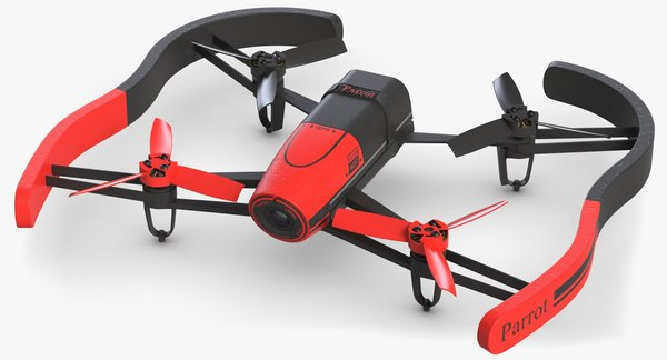 3d model parrot bebop quads