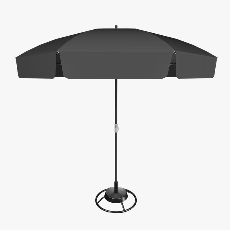parasol 3d obj