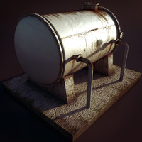 High Pressure Tank (game ready and Renders)