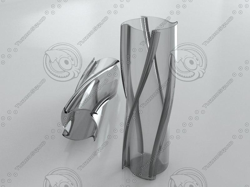 3d spiral vase model