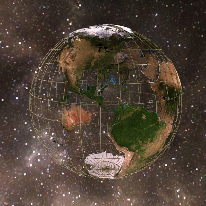 digital globe 3d model