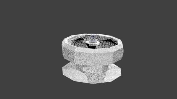 fountain blender water 3d obj