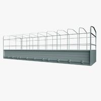 free truck box 3d model