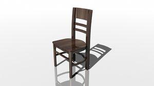 3d model starbucks coffee chair