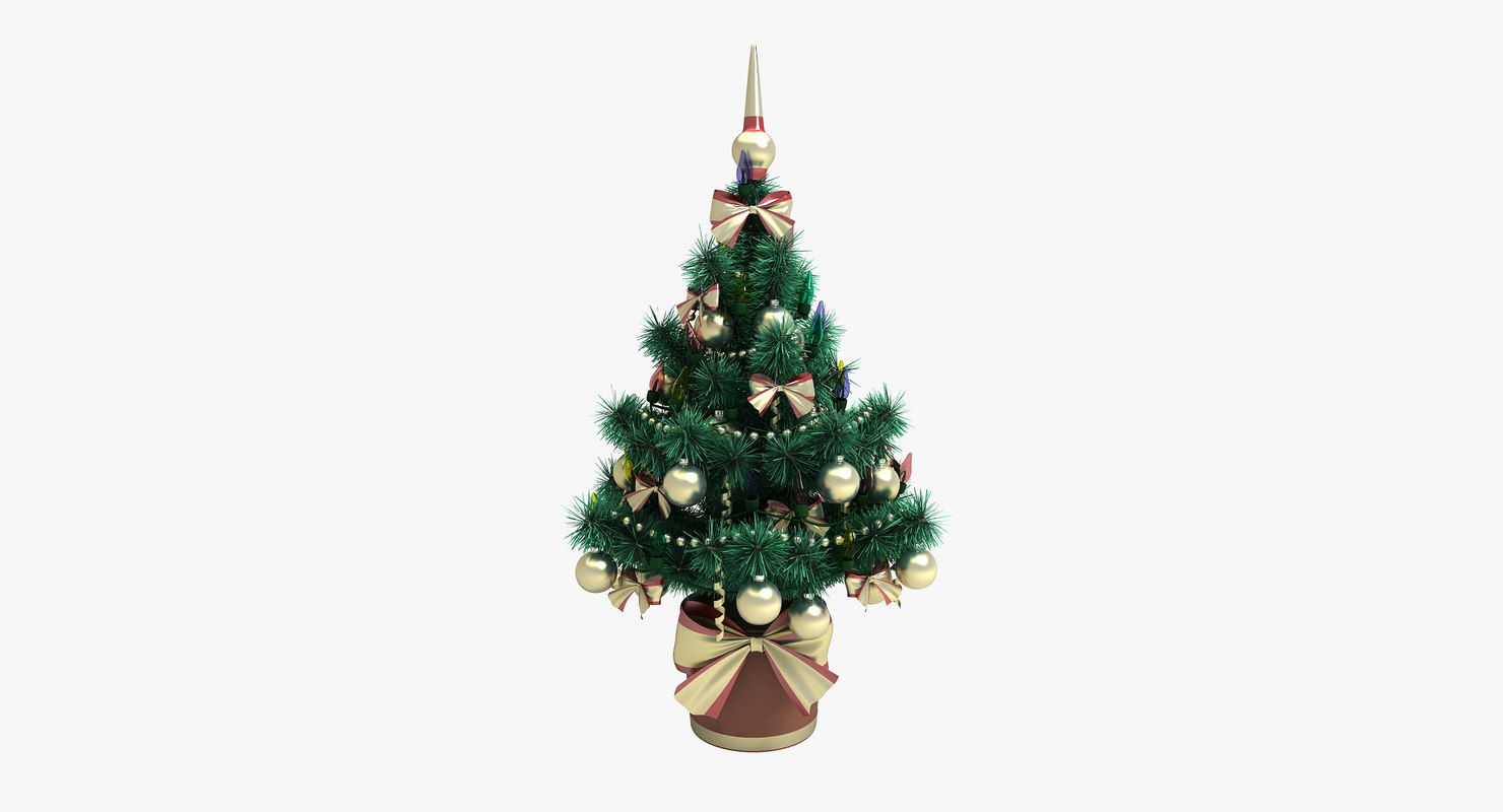 small christmas tree 2 3d model