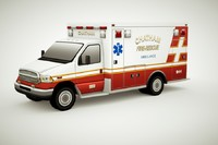 3d generic ambulance v4 model