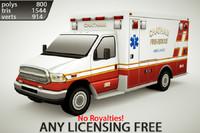 3d generic ambulance v4 model