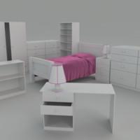 3dsmax bed room suite
