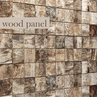 wood panel bark obj