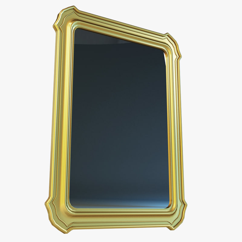 Free wall mirror 3d model for Mirror 3d model