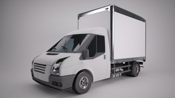 3d van box model