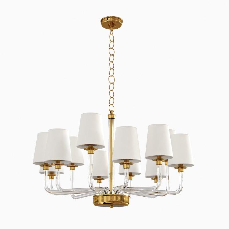 parker large chandelier visual 3d max