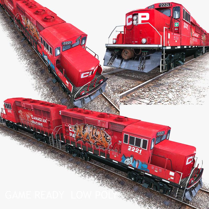 3d ready locomotive engine train model