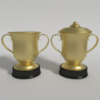 football trophy 3d model