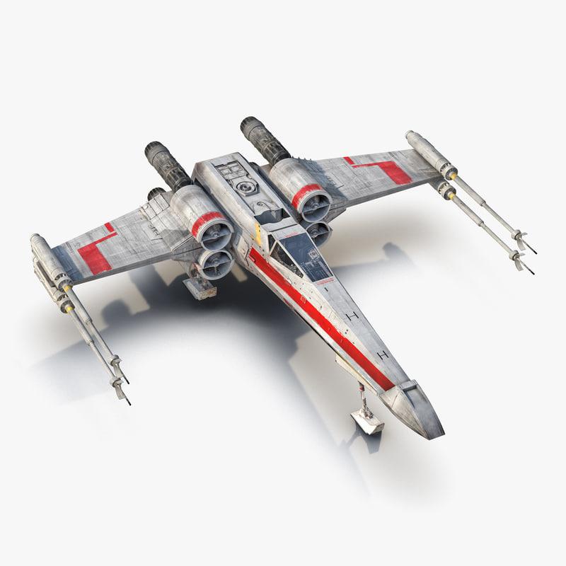 3d star wars x wing