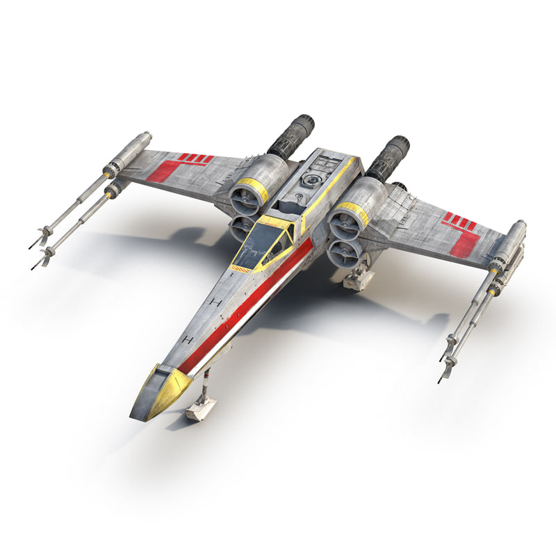 3d star wars x wing model