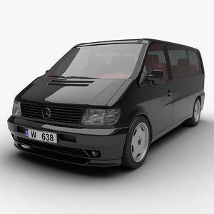 3d model 1995 mercedes-benz vito