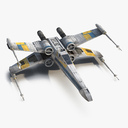 Star Wars X-Wing Starfighter Blue 3D Model