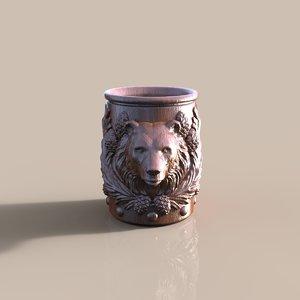 3d model cup bear