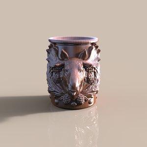 3d cup elk model