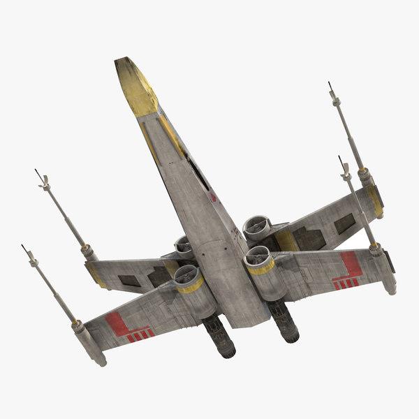 star wars x wing 3d model