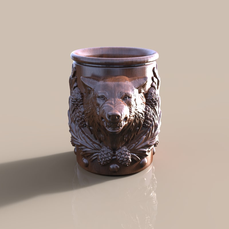 3d cup wolf