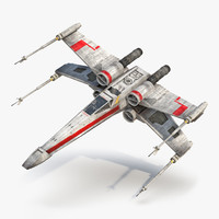Star Wars X Wing Starfighter Red