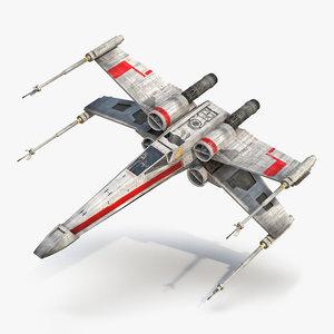 star wars x wing 3d max