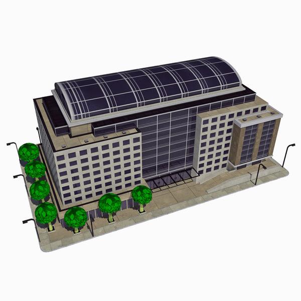 3d model - cartoon building tile