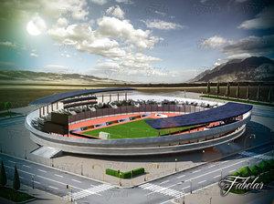 stadium environment 3d max