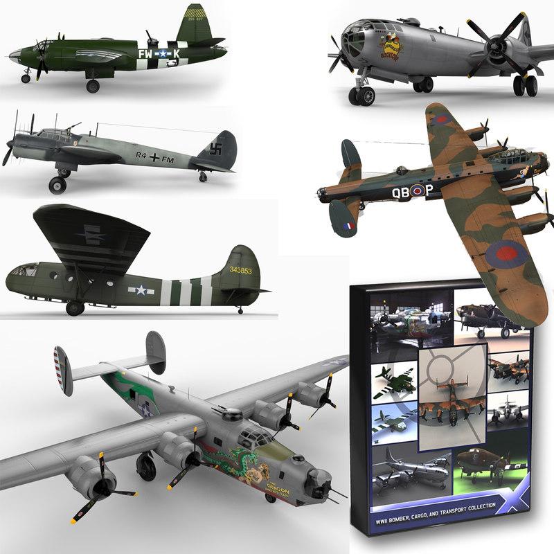 3d world war ii aircraft